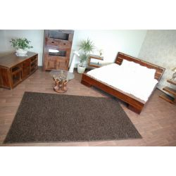 Fitted carpet SHAGGY MISTRAL 95 dark brown