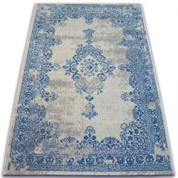 Carpet VINTAGE Rosette 22206/063 blue / cream