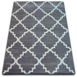 Carpet SKETCH - F343 grey /white trellis