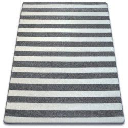 Carpet SKETCH - F758 grey/white - Striped