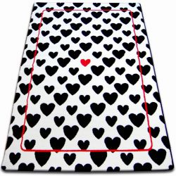 Carpet SKETCH - F755 white/black - hearts