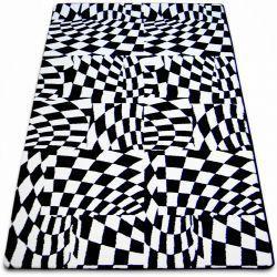 Carpet SKETCH - F756 white/black - chequered