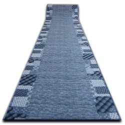 Runner anti-slip CARO blue