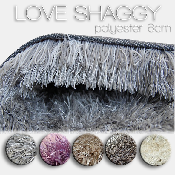 Rugs collection LOVE SHAGGY polyester